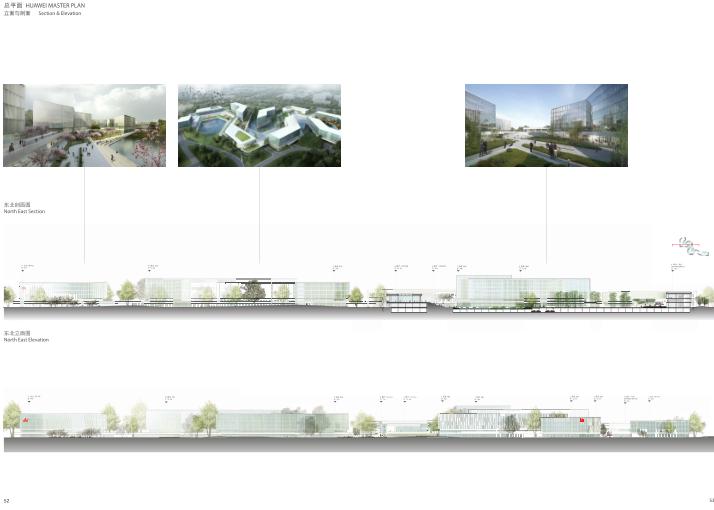 华为成都产业园区二期建筑设计方案文本2019-立面与剖面