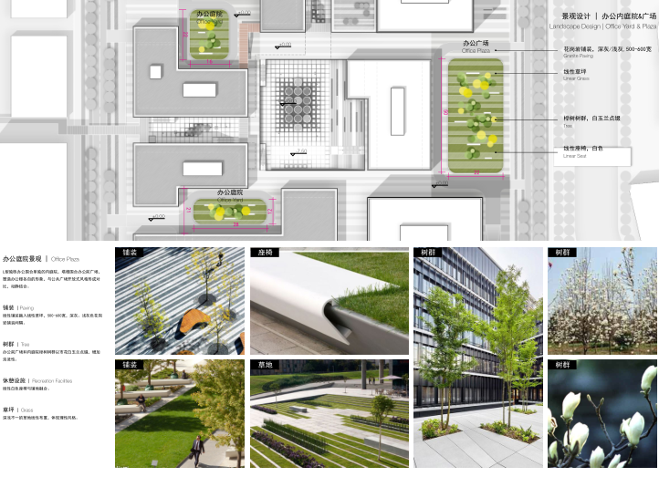 景观设计办公内庭院&广场