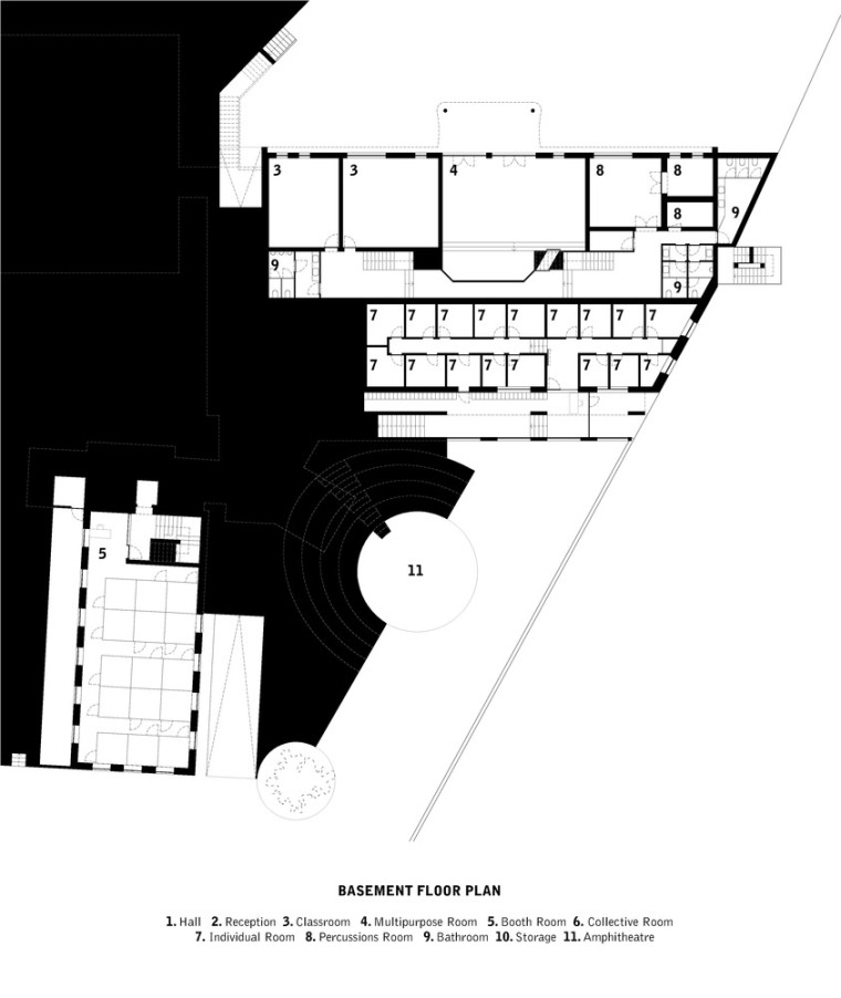 葡萄牙ARTAVE/CCM音乐学校-1_Basement_Floor_Plan