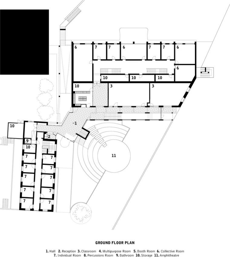 葡萄牙ARTAVE/CCM音乐学校-2_Ground_Floor_Plan
