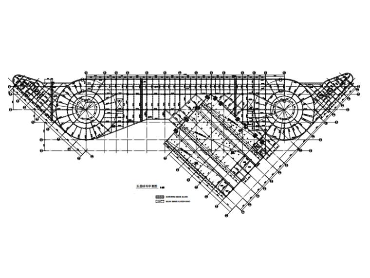 [广东]6层框架结构综合交通枢纽结施图2019