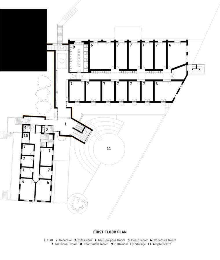 葡萄牙ARTAVE/CCM音乐学校-3_First_Floor_Plan