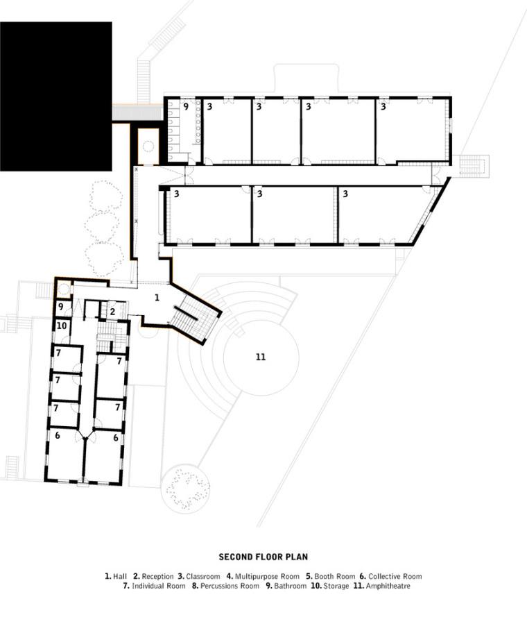 葡萄牙ARTAVE/CCM音乐学校-4_Second_Floor_Plan