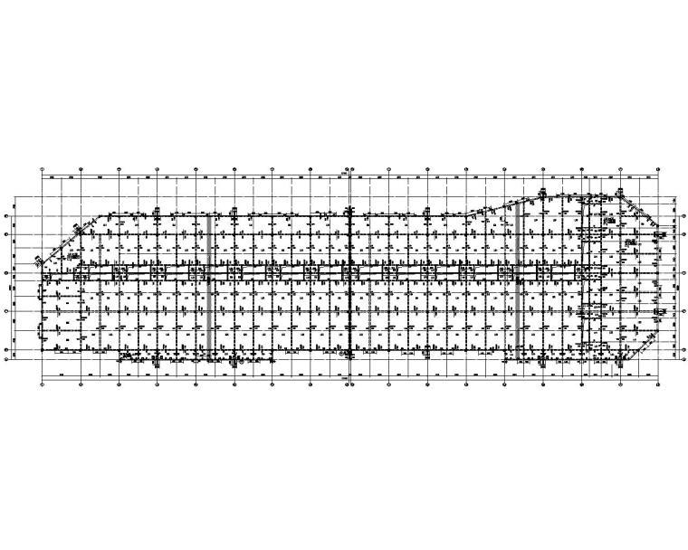 山东大型商业街建筑框架结构施工图(CAD)