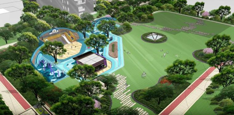 儿童游乐园景观效果图