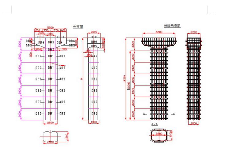 B类桥墩结构图