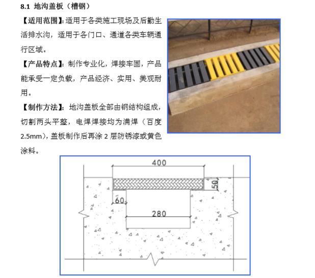 地沟盖板(槽钢)