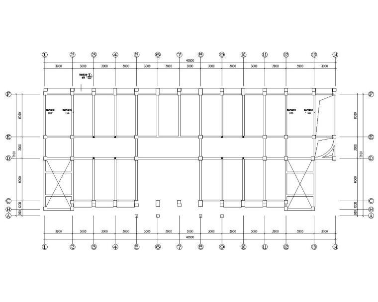 重庆五层小学教学楼框架结构施工图(CAD)