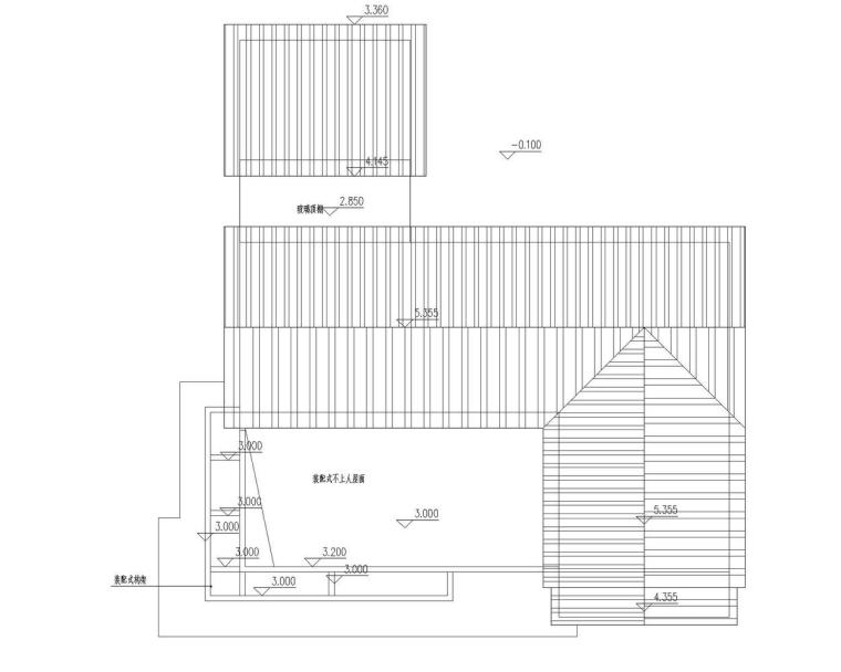 成都宝珀上云上金乡村酒店-多功能厅屋顶层平面图