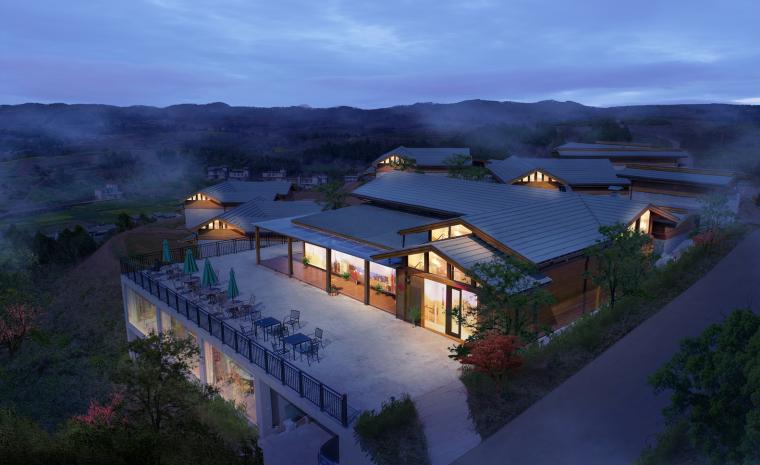 成都宝珀上云上金乡村酒店-整体夜景_拍摄者:George