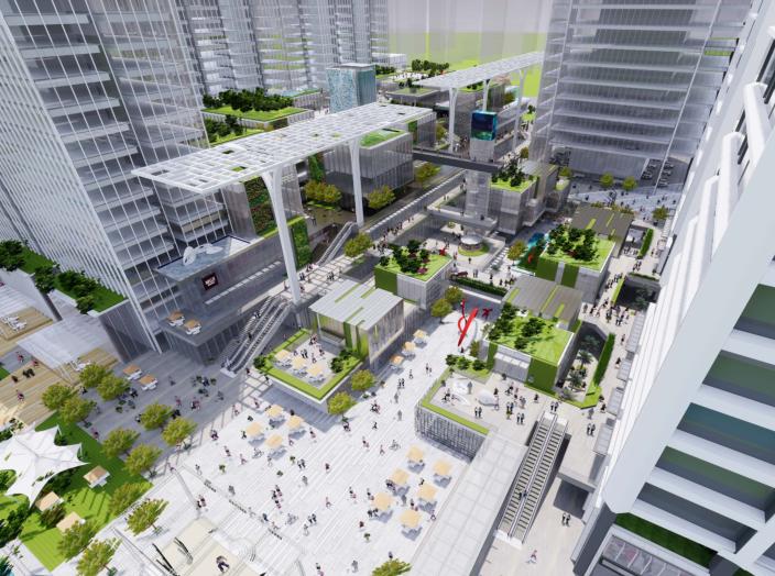 南京林业大学广场设计资料下载-佛山良溪广场商业综合体建筑方案文本CRTKL