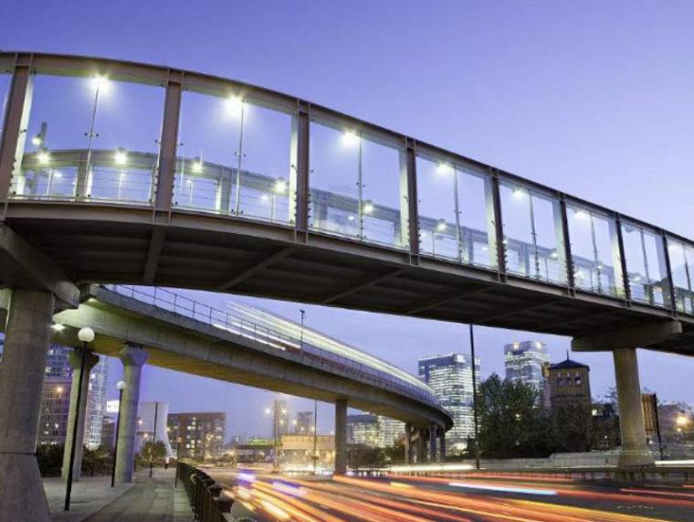 [重庆]大学城过街天桥施工设计图