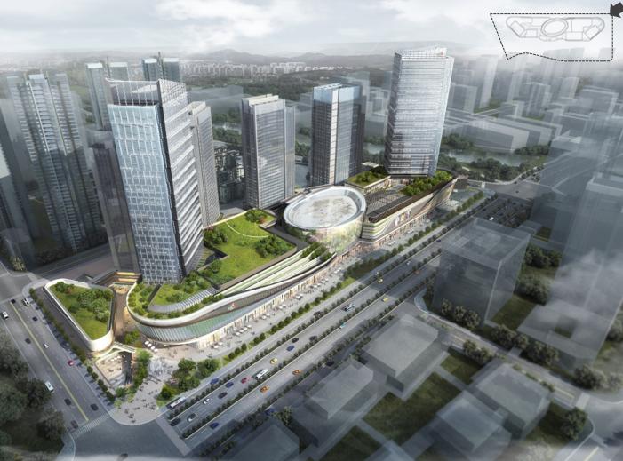 知名地产成都铁塔厂商业综合体立面设计2018