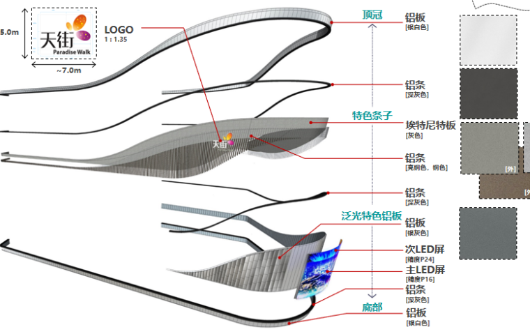 西船头幕墙设计 材料&模块设计