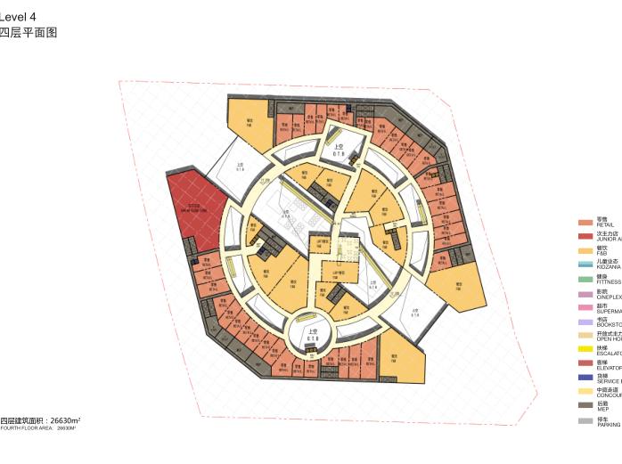 四层平面图
