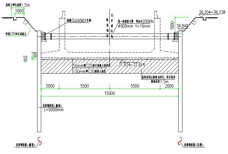 拉森钢板桩横断面图