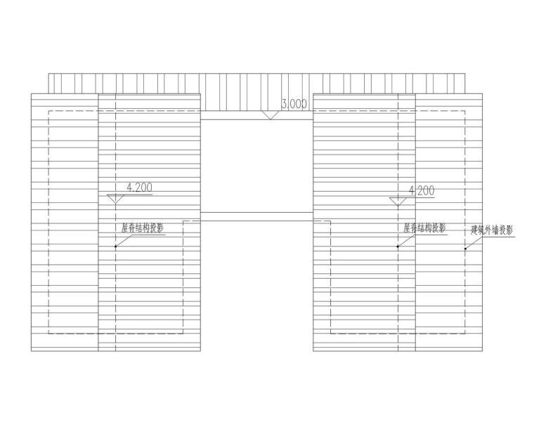 成都宝珀上云上金乡村酒店-大床房屋顶层平面图