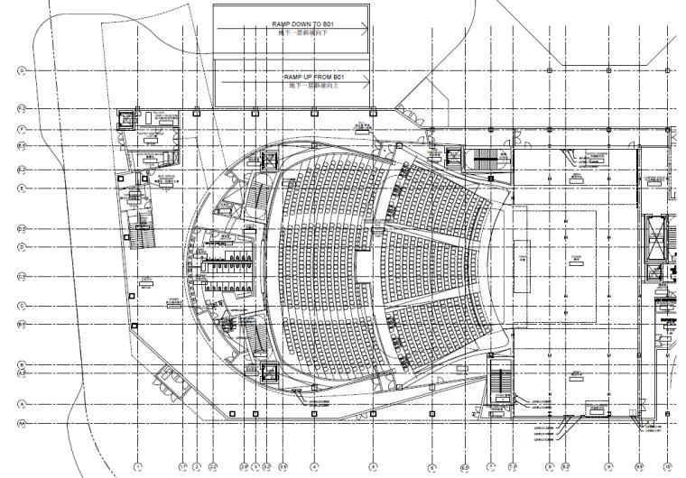 剧场首层电气平面图
