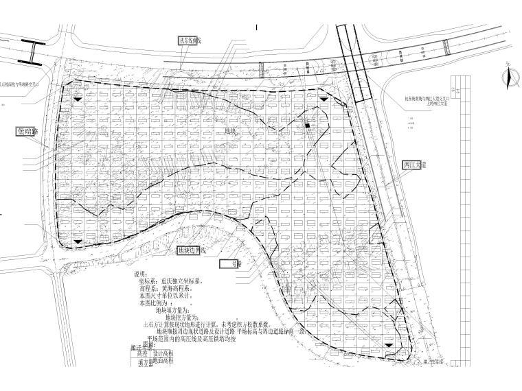 平场工程图资料下载-重庆地块平场施工图设计CAD图纸