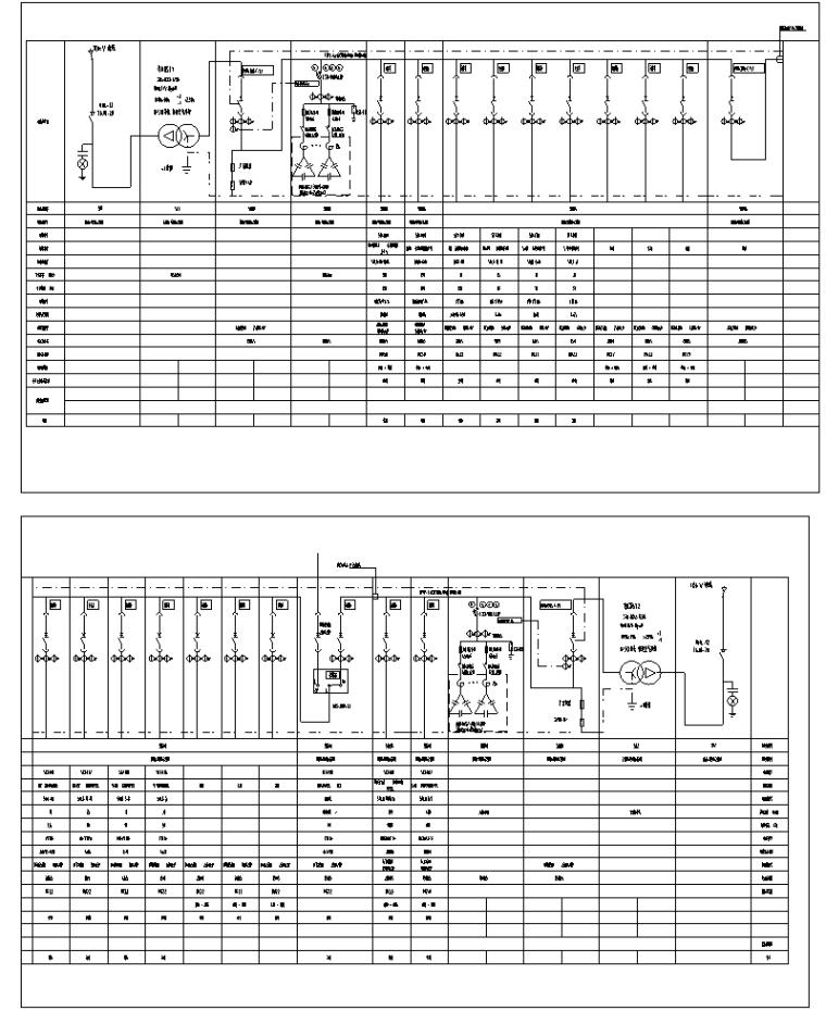 变电所低压配电系统图
