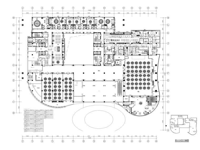 机场酒店2F平面布置图