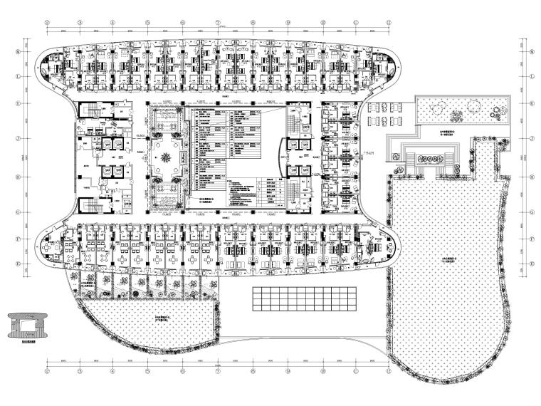 机场酒店4F平面布置图