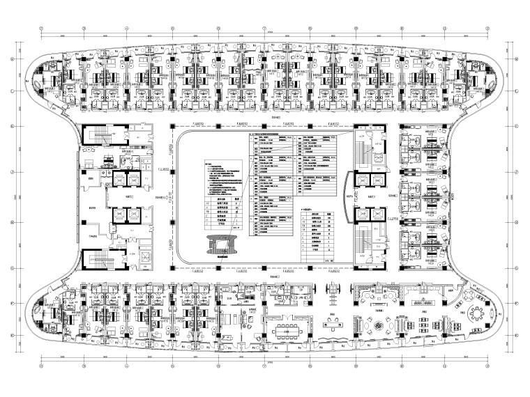机场酒店14F平面布置图