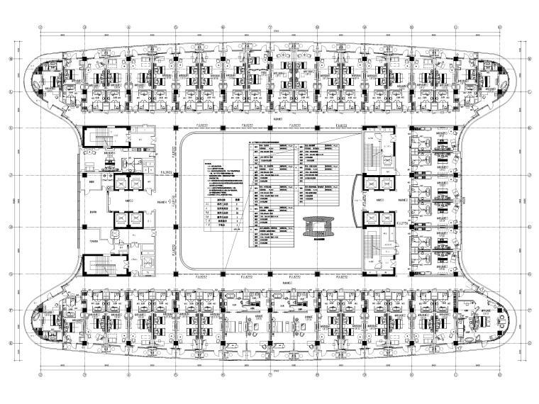 机场酒店13F平面布置图