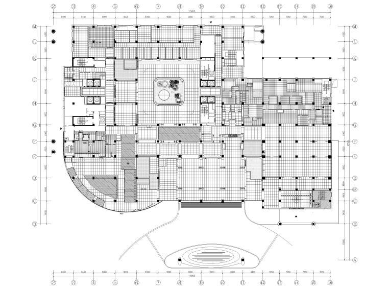机场酒店1F地面铺装图