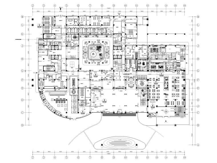 机场酒店1F平面布置图