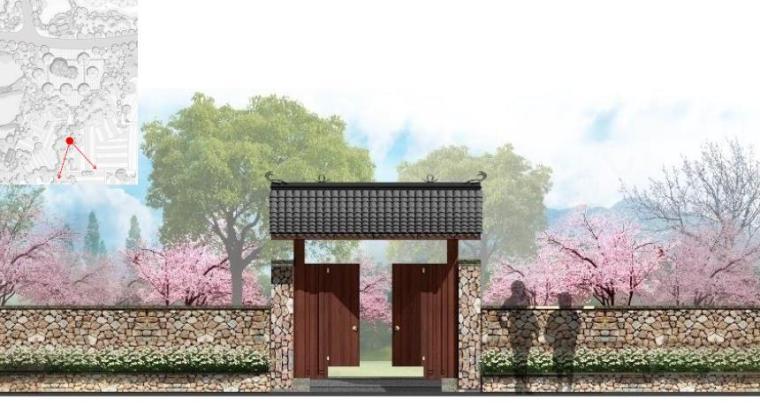 [湖北]武汉休闲农庄旅游度假村景观设计方案-桃园景观效果图