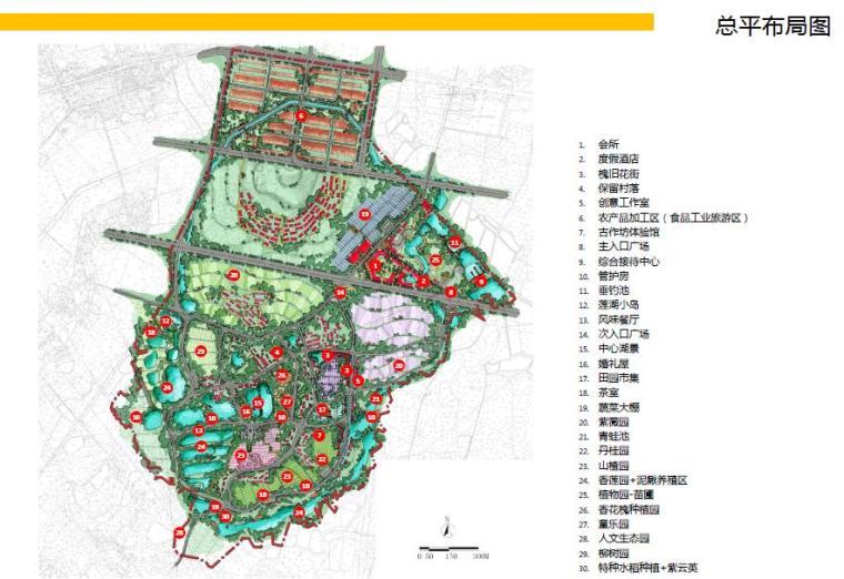 [湖北]武汉休闲农庄旅游度假村景观设计方案-总平面图