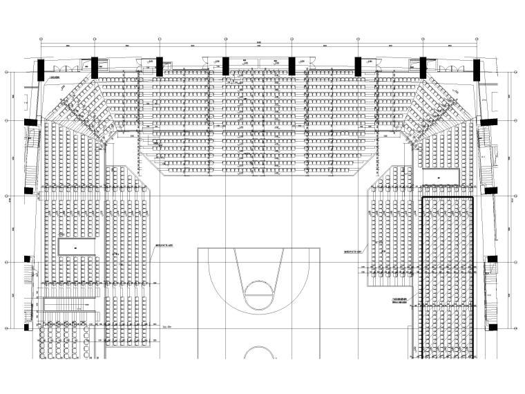 体育比赛区看台平面、节点详图