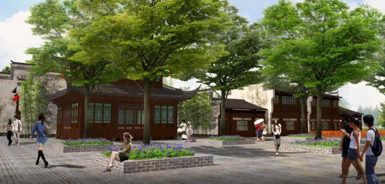 [湖北]武汉休闲农庄旅游度假村景观设计方案-景观效果图1