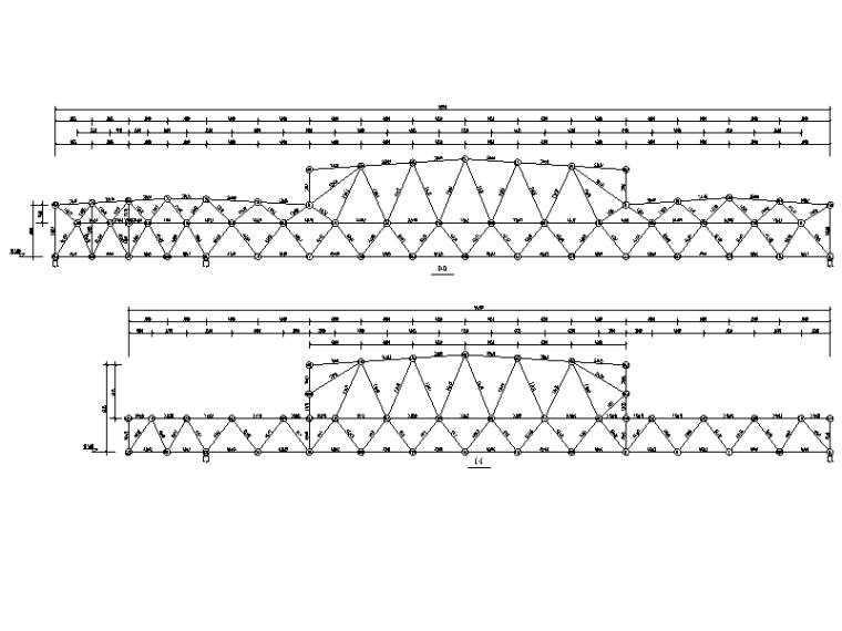 综合活动中心网架剖面图