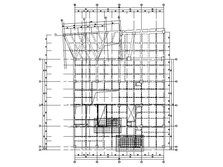 结构改造支撑及凿打平面图