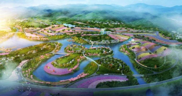 旅游度假项目研究资料下载-[贵州]绥阳生态旅游度假区景观设计方案