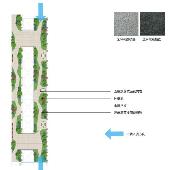 [湖北]武汉某大楼连廊现代时尚景观方案-详细分析