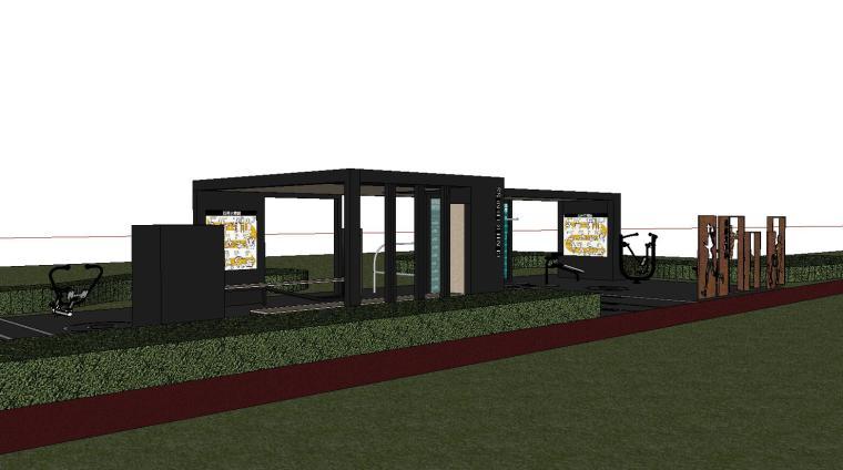 知名企业健身空间HL系列su模型设计 (1)