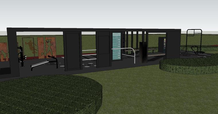知名企业健身空间HL系列su模型设计 (3)