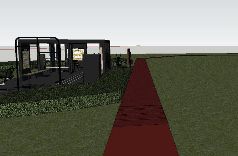 知名企业健身空间HL系列su模型设计 (2)