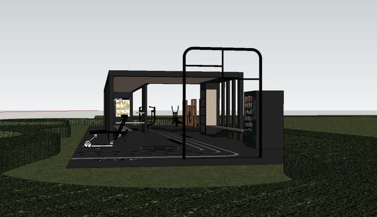 知名企业健身空间HL系列su模型设计 (5)
