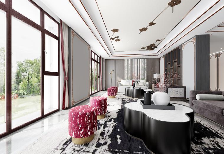 [北京]亿城燕西华府三层别墅样板房施工图-1