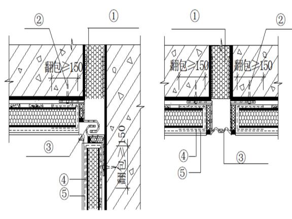 住宅项目工程建筑装饰装修施工方案-变形缝保温构造示意图