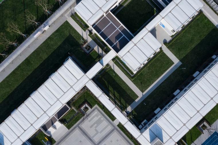 南京集装箱校园-17.教学区与办公区鸟瞰