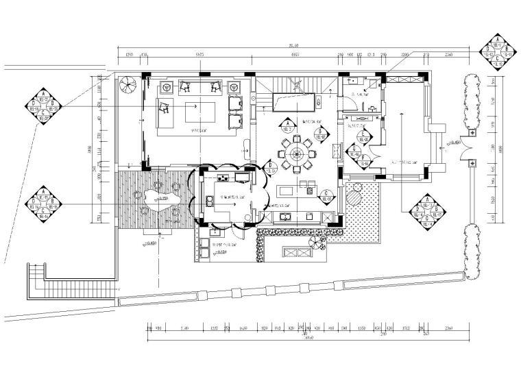 欧式复古小别墅资料下载-[广州]中式从化别墅设计施工图_附效果图