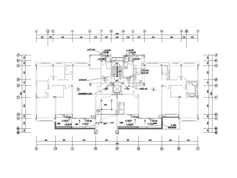 [一键下载]8套别墅建筑电气施工图合集-1公区照明平面图