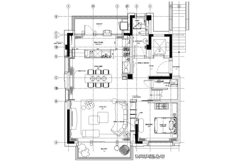 [上海]静安府叠层E2户型别墅施工图_效果图-平面布置图21