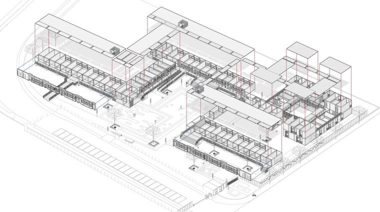南京集装箱校园-2.轴测图