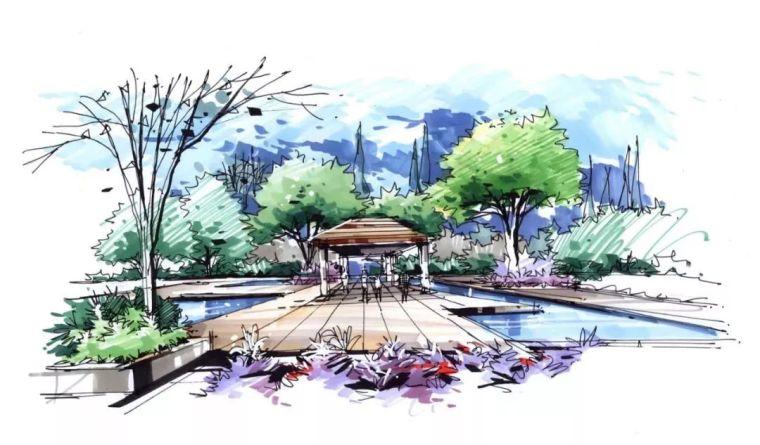 考研|100张景观手绘万能效果图(收藏)_65